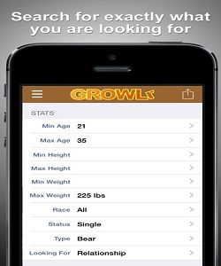 searching on growlr